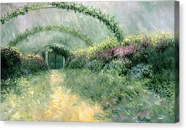 Monet's Trellis IIi Canvas Print