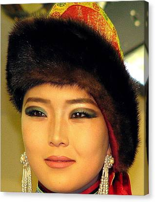 Mongolian Model Canvas Print by Diane Height