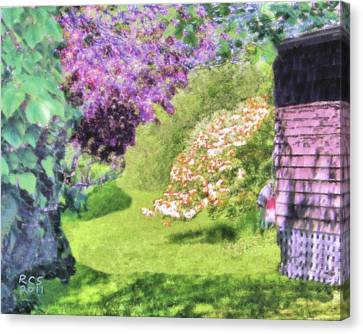 Monhegan Blooms Canvas Print