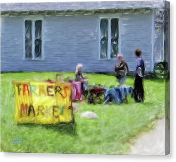 Monhegan Market Canvas Print