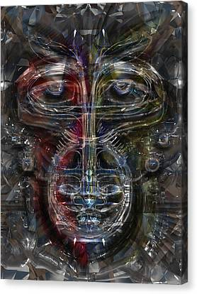 Monkey Tech Canvas Print by Russell Pierce