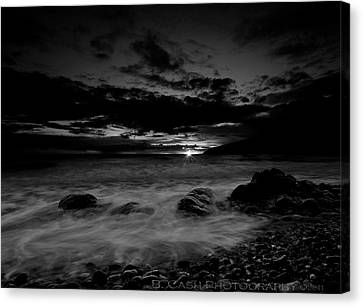 Monochrome Sunset  Canvas Print