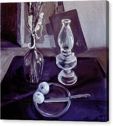 Monotone Still Life 1977 Canvas Print by Nancy Griswold