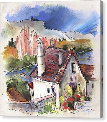 Monpazier In France 05 Canvas Print by Miki De Goodaboom