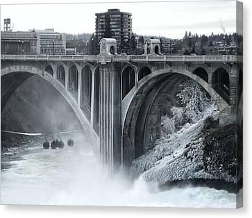 Monroe St Bridge 2 - Spokane Washington Canvas Print by Daniel Hagerman