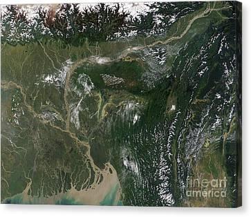 Monsoon Floods Canvas Print