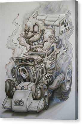 Monster Rod Canvas Print by Mike Royal