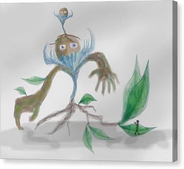 Monster Tree Canvas Print by Sebopo Art