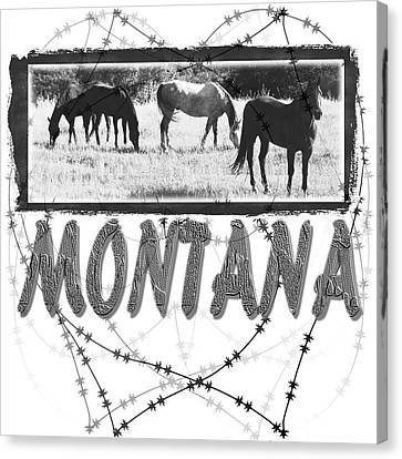 Montana Horse Design Canvas Print
