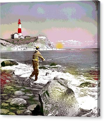 Montauk Point Lighthouse Canvas Print by Charles Shoup