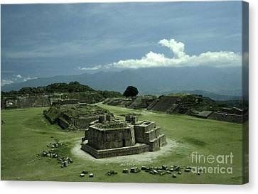 Monte Alban Plaza Canvas Print by John  Mitchell