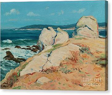 Monterey Coast Canvas Print by Guy Rose