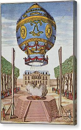 Montgolfier Hot Air Balloon Canvas Print by Science Source