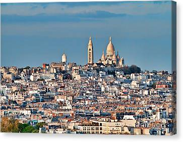 Canvas Print featuring the photograph Montmatre by Kim Wilson
