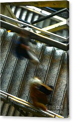 Canvas Print featuring the photograph Montparnasse Station by Danica Radman
