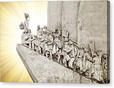 Monument To Discoveries Canvas Print by Carlos Caetano