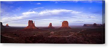 Monument Valley At Dusk Canvas Print by Andrew Soundarajan