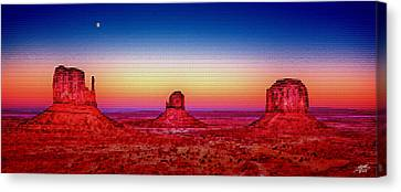 Monument Valley Canvas Print by Steve Huang