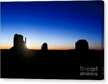 Monument Valley Sunrise Canvas Print by Jane Rix