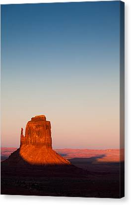 Monument Valley Sunset Canvas Print by Dave Bowman