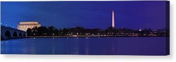 Monuments On The Potomac Canvas Print