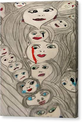 Moods Canvas Print by HollyWood Creation By linda zanini
