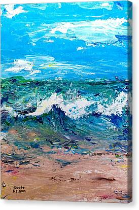 Moody Beach In A Mood Canvas Print