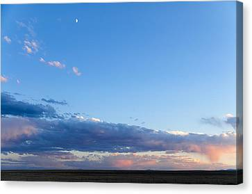 Moon Above The Horizon Canvas Print