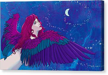 Canvas Print - Moon Angel by Vincent Danks