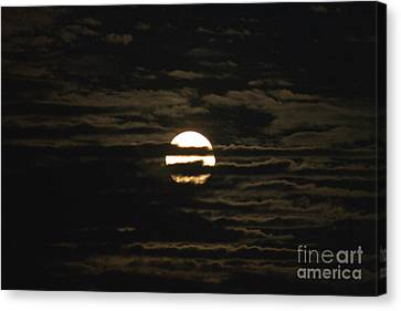 Canvas Print featuring the photograph Moon Behind The Clouds by William Norton