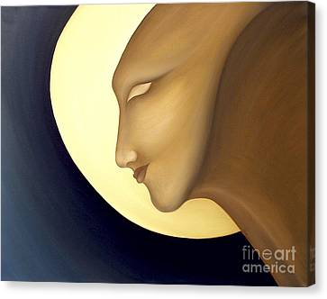 Moon Diva Canvas Print by Joanna Pregon