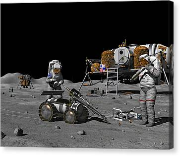 Moon Exploration, Artwork Canvas Print by Walter Myers