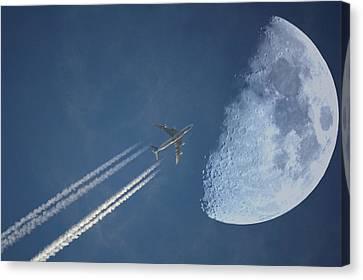 Moon Flight Canvas Print by G.t.