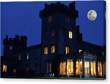 Moon Over Dromoland Castle  Canvas Print by Carl Purcell