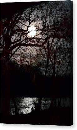 Moon Over Maury Canvas Print by Cathy Shiflett