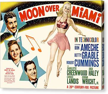 Moon Over Miami, Don Ameche, Betty Canvas Print by Everett