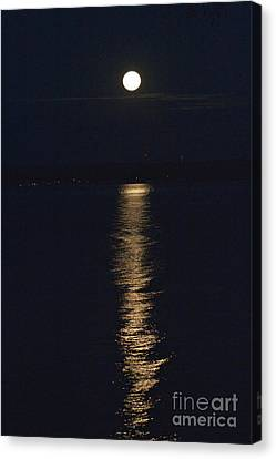 Moon Over Seneca Lake Canvas Print