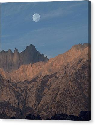 Moon Over Whitney Canvas Print