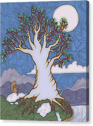 Moon River Canvas Print by James Davidson