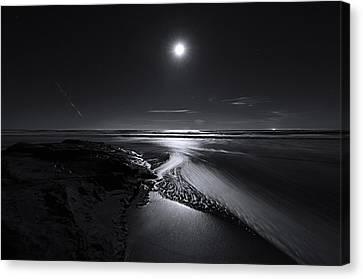 Moon River Canvas Print by Richard Leon
