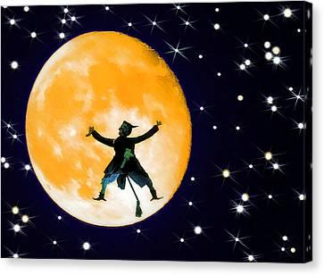 Moon Splat 2 Canvas Print by Steve Ohlsen