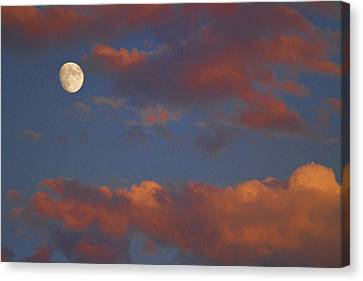 Moon Sunset Canvas Print by James BO  Insogna