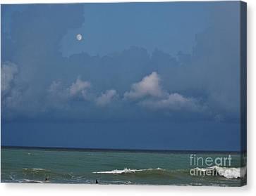 Moon Surf Canvas Print by Lynda Dawson-Youngclaus