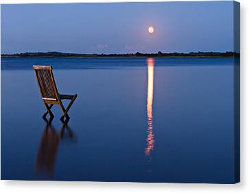 Canvas Print featuring the photograph Moon View by Gert Lavsen