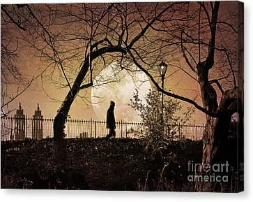 Canvas Print featuring the photograph Moon Walker by Deborah Smith