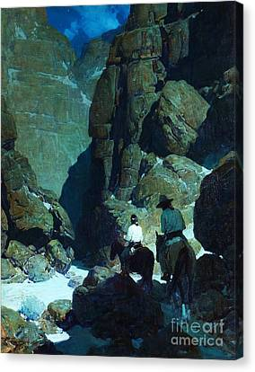Moonlight Canyon Canvas Print by Pg Reproductions