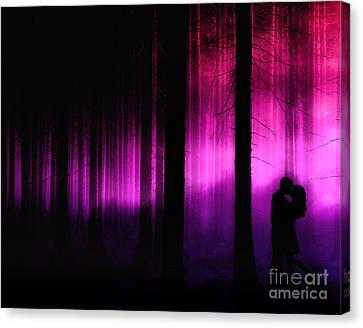 Wall Canvas Print - Moonlight Kiss by Julie Fain