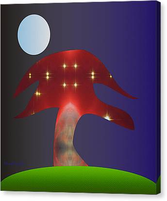 Canvas Print featuring the digital art Moonlight Sonata by Asok Mukhopadhyay