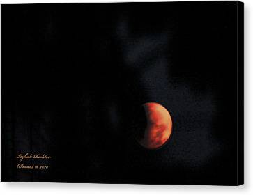 Canvas Print featuring the photograph Moonlight Sonate by Itzhak Richter