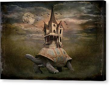 Moonlight Traveler Canvas Print by Marie  Gale